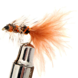 Black-Magic-Woolly-Bugger-Trout-Fly-Brown-Size-B08-Qty-1