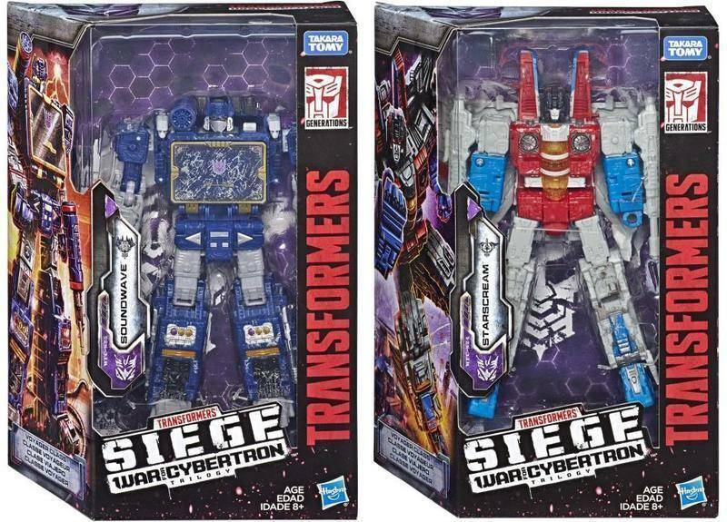 Transformers SIEGE WFC War Cybertron W2 Voyager Soundwave & Starscream Set New