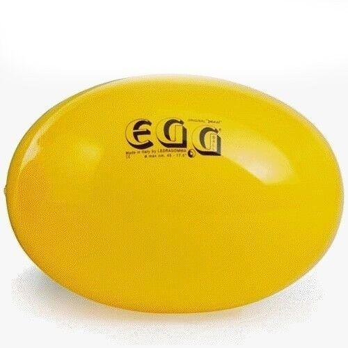 Original Pezzi Fitness Gym ball Eggball 45//L65 Yellow w// Pump for Yoga Pilates