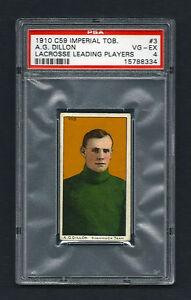 PSA 4 1910 C59 LaCROSSE CARD #3 A.G. DILLON