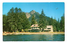 Olympic National Park WA Lake Crescent Lodge Postcard 1950s