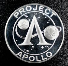 APOLLO 11 SILVER PLATE PROOF Commemorative Medals In case DEEP  MIRROR  Reeded