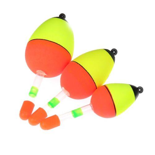 5PCS Night Glowing Fishing Float EVA Glow Light LuminoBobber Electron#gcul