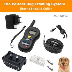Rechargeable-Collar-Adiestramiento-electrico-perros-Antiladridos-Control-Remoto