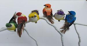 6 Artificielle Rainbow Feather Craft Clip Oiseaux Fleur Jardin Home Fun Décoration-afficher Le Titre D'origine Vente D'éTé SpéCiale