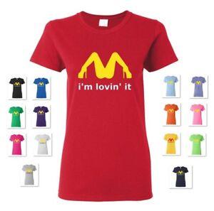 Femme je suis LOVIN /'IT McDonald/'s Parodie Drôle Lesbian Adulte Humour T-Shirt Tee