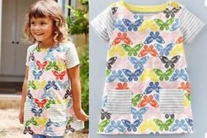 327b6cb8d7a Mini Boden girls cotton jersey hotchpotch print tunic top dress NEW ...