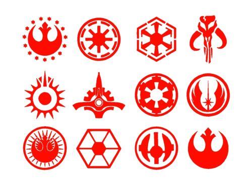 Star Wars Jedi Symbols Set Vinyl Decals Stickers