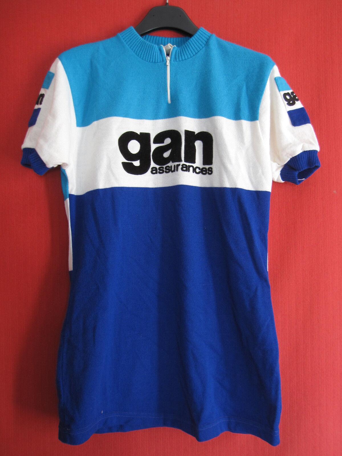 Maillot GAN cycliste GAN Maillot Assurance tour de France Vintage 70'S Cyclisme Rétro  - L 84e856