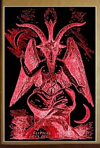 "Baphomet Goat Satanic Worship Poster FULL SIZE 24/"" x 36/"" Evil Devil Halloween"