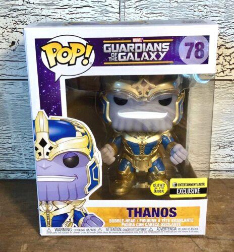 Funko Pop EE Exclusive Guardians of the Galaxy Thanos #78 Glow-in-Dark 6 Inch