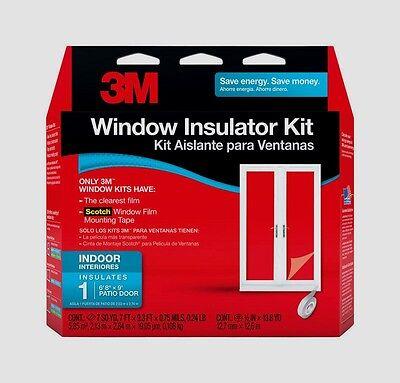 """Lot//2 3M PATIO DOOR Window Insulator Kit Indoor 84/""""X112/"""" Clear Draft Film 2144W6"""