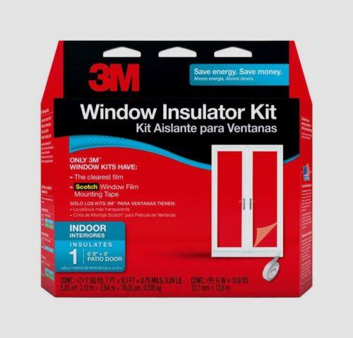 """3M PATIO DOOR Large Window Insulator Kit INDOOR 84/""""X112/"""" Clear Film Draft 2144W6"""