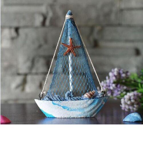 Vintage Wood Sailing Nautical Decor Ornaments Mediterranean-style Home Decor