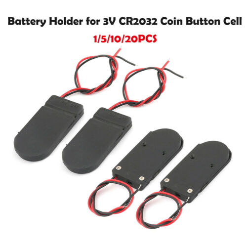 1//5//10//20x Battery Holder Case With On-Off Switch Box CR2032 3V Button Coin Cell