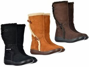 ROCKET-DOG-SLOPE-SUEDE-FAUX-FUR-FLAT-WEDGE-TOGGLE-ZIP-CALF-BOOTS-SIZES-3-8-NEW