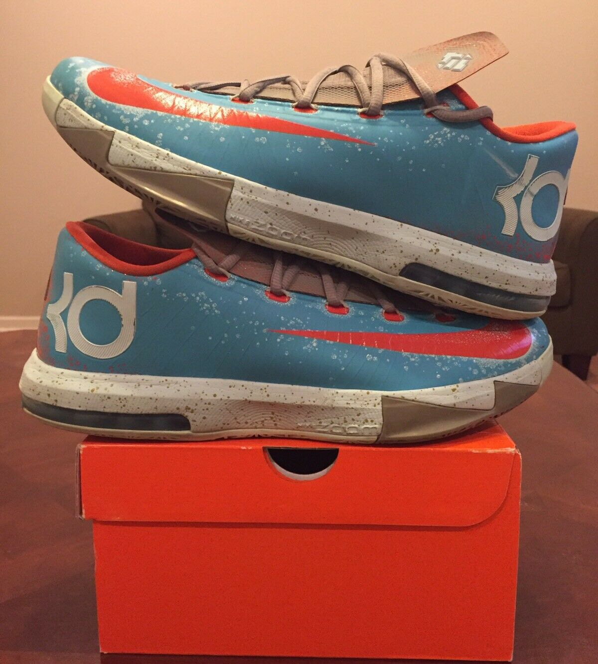 Nike Zoom Kd 6 Vi bluee Crab N7 Red Nerf Energy Splatter What Maryland 1 2 3 4 5