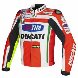 New-Ducati-Men-039-s-Leather-Motorcycle-Motorbike-Jacket-Made-With-Cow-Leather