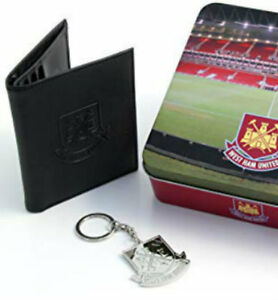 Gewidmet Official West Ham Football Club Crest Embossed Money Wallet Geldbörsen & Etuis Kleidung & Accessoires Keyring In A Tin