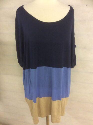 De Marque Femme Couleur Bloc Haut T-shirt à manches courtes grande taille taille 24