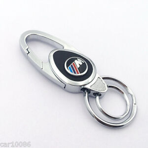 new style metal alloy leather car logo key chain key ring for bmw m m3 m5 m6 ebay. Black Bedroom Furniture Sets. Home Design Ideas