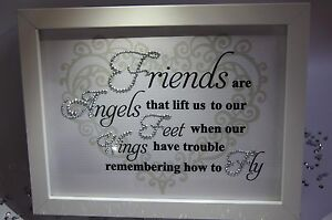 image is loading friends are angels sparkle word art pictures quotes