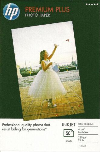 HP Premium Plus 4 X 6 High Gloss Borderless Photo Paper~200ct~WOW!