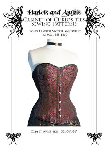 Victorian real Corset Paper Sewing Pattern Large Tutorial Vintage steampunk