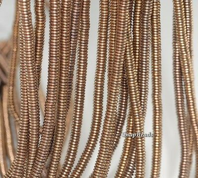 4X1MM BRONZE HEMATITE GEMSTONE RONDELLE HEISHI 4X1MM LOOSE BEADS 16""
