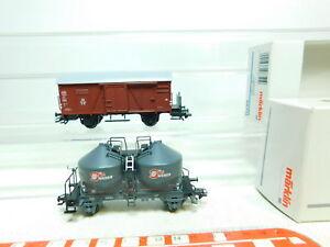 BU686-0-5-2x-Maerklin-H0-AC-Gueterwagen-DB-NEM-KK-46615-48751-NEUW-OVP