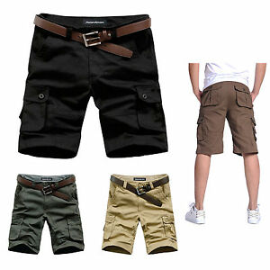 2bdaef270b Men's Casual Relaxed Slim Fit Cotton Multi-Pocket Cargo Shorts Short ...
