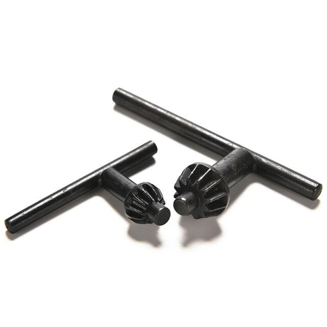 "2X Drill Chuck Keys 10mm 3/8"" and 13mm 1/2"" Black Replacement Chuck Key Tools GT"
