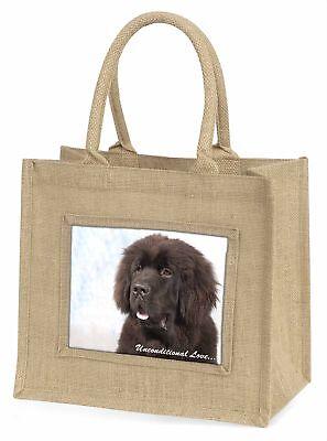 newfoundland Hund mit Love Große natürliche jute-einkaufstasche Weihnachten,