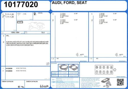 Cylinder Head Bolt Set SEAT IBIZA TDI 1.9 160 BPX 3//2004-