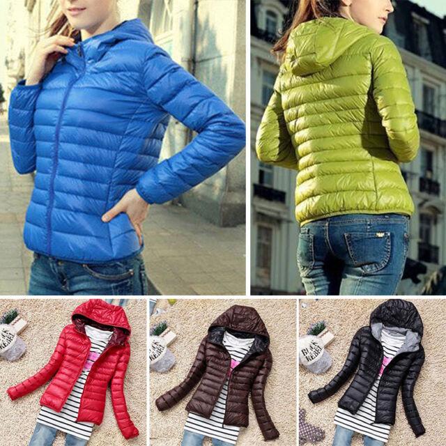 cd55a8fa452 Women's Packable Down Jacket Ultralight Hooded Short Coat Winter Hoodie  Puffer