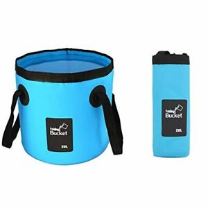 GoldPaddy Collapsible Bucket,Camping Water Storage Container 5 Gallon(20L) Porta