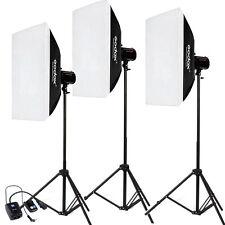 Godox 3* 200W 600W 50x70cm Softbox Photo Studio Flash Strobe light stand Kit