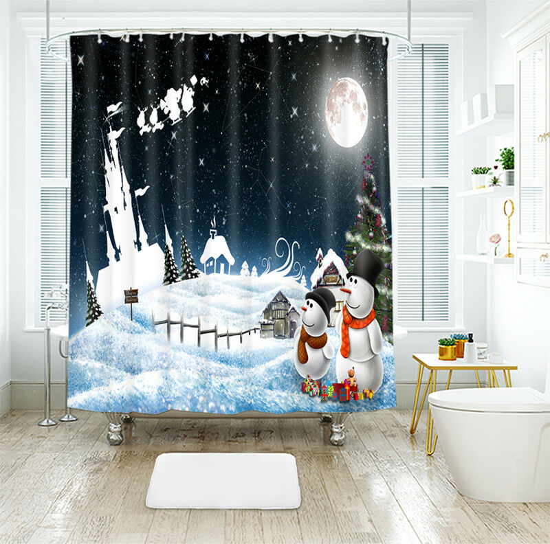 3D Weihnachten Xmas 40 Duschvorhang Wasserdicht Faser Faser Faser Bad Daheim Window Toilette | Wonderful