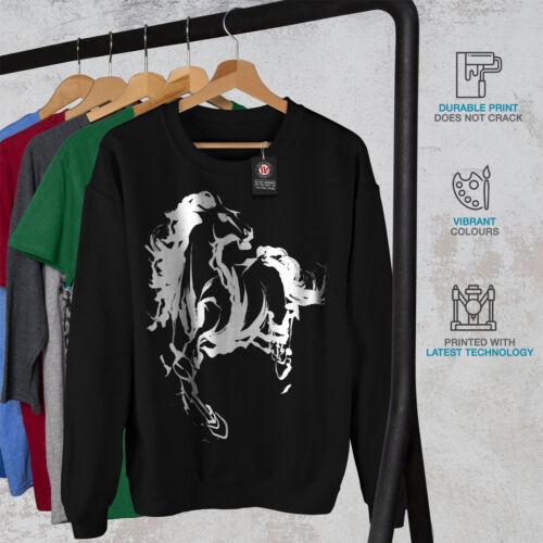 Black uomo con freschi animali di da New Felpa cavallo stampati AOqzzW