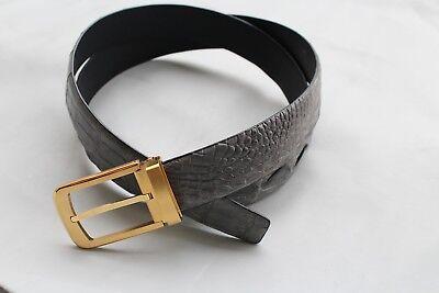 CROCODILE Belt Skin Leather Men/'s Accessories #T005 Black Genuine Alligator