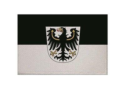 Aufnäher Ostpreussen Preußen Fahne Flagge Aufbügler Patch 9 x 6 cm
