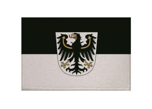 Ricamate Ostpreussen Prussia bandiera bandiera aufbügler Patch 9 x 6 cm