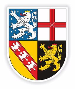 SAARLAND-German-STEMMA-ADESIVO-PER-Locker-FRIGO-cassetta-attrezzi-DURO-Cappello