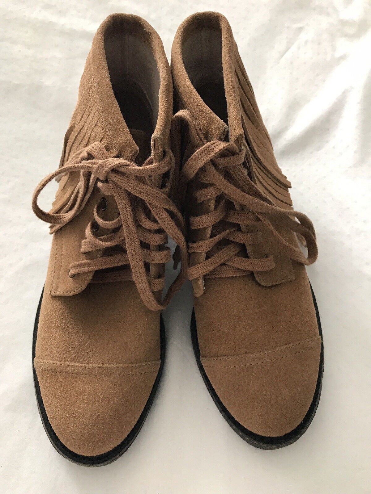 Brand New House Of Harlow 1960 Suede Boots With Fringes Size 7
