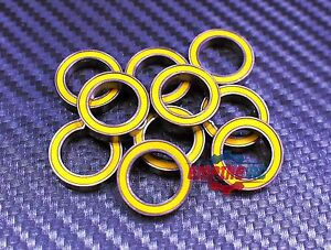 12x18x4 mm 4pcs 6701-2RS Yellow Rubber Sealed Ball Bearing Bearings 12*18*4