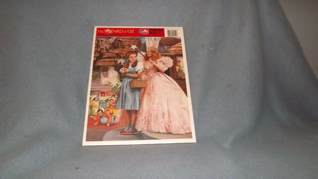 The Wizard Of Oz Golden Frame Tray Puzzle Dorothy Good Witch Little