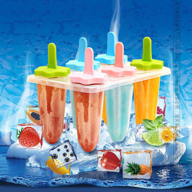 35 Ice Pop Molds Ice Cube Trays Freeze Popsicle Mold Maker Flexible Bar Pudding