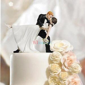 Tango Kiss Couple Wedding Cake Topper Funny Bride Groom Cake Decor