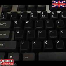 English UK Black Keyboard Stickers with White Letters for Laptop Computer PC