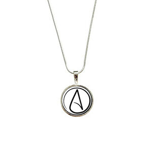 Atheism atheist symbol lg pendant with sterling silver plated image is loading atheism atheist symbol lg pendant with sterling silver aloadofball Gallery